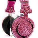 Amethyst Crystal Studded DJ Headphones