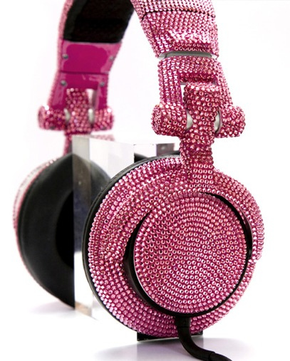 crystal studded headphones