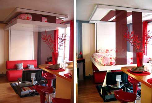 BedUp Ceiling Mounted Murphy Bed Saves Space Looks Cool
