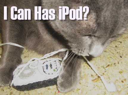 cat ipod lolz