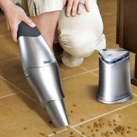 Hand Vac Cleans the Floor and the Air