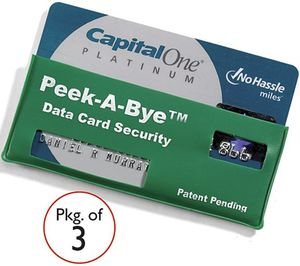 peek a bye credit card Pinboard