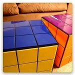 Rubik's Cube and LiteBrite Coffee Tables