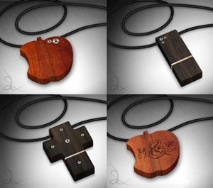 wood usb jewelry