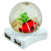 Crystal Ball USB Hub with Fishtank Top