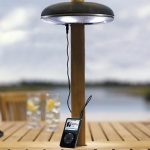E-Light Indoor Outdoor Umbrella Pole iPod Speaker and Lamp