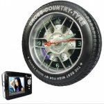 Racing Tire Clock Spy Camera MP3 Player