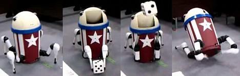 robot trashcan