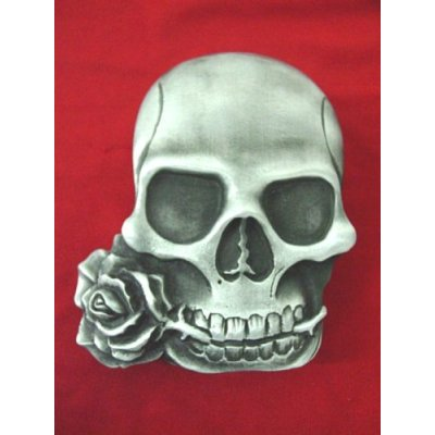 The Heavy Metal tattoo art style Skull with Rose Belt Buckle might just be