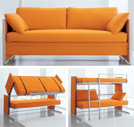 http://craziestgadgets.com/2008/04/05/sofa-converts-to-bunk-beds/