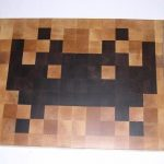 Really Cool Looking Space Invaders Cutting Board