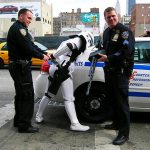 NYPD: 1, Storm Trooper: 0
