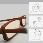 Eyeglasses with Built In Chopsticks