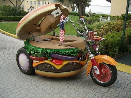 hamburger motorcycle Pinboard