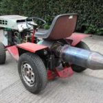 Jet Powered Lawnmower Tractor