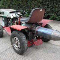 Jet Powered Lawnmower Tractor