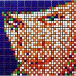 Rubiks Cube Pixel Artwork