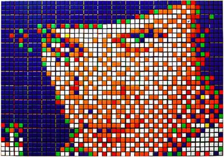 rubiks cube pixel kubrick