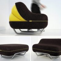 Sofa With Lcd Monitors In The Armrests