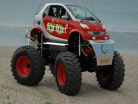 Wheel Rims  Trucks on Smart Car Monster Truck Smart Car Monster Truck