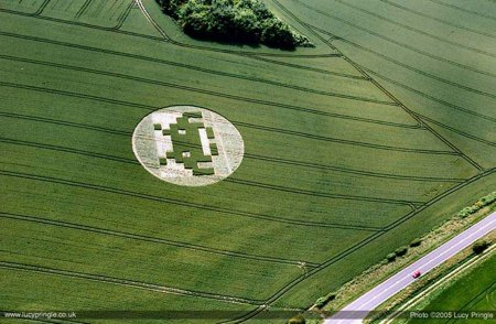 space invaders crop circle