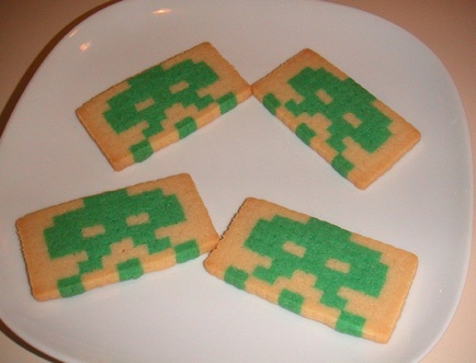 space invaders cookies