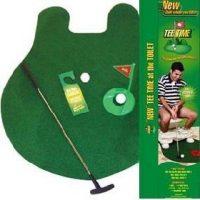 Toilet Golf Putting Green