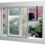 Window with Built in Cleaning Squeegee
