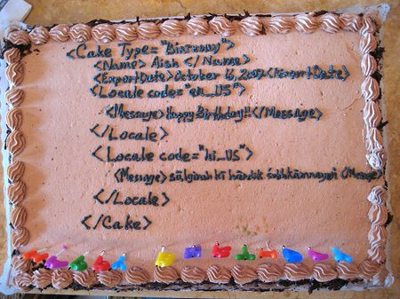 xml birthday cake