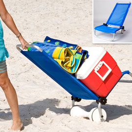 ant chair Beach Chair Converts to a Cart
