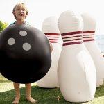 Jumbo Inflatable Bowling Ball and Pins