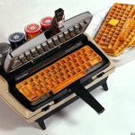 Typewriter Repurposed into a Keyboard Waffle Maker