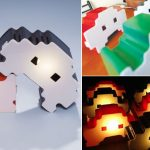 Space Invaders Knockoff Lamps