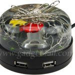 USB Hub Fishtank with Magnetic Paperclip Holder Top