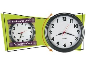 backwards clock Pinboard