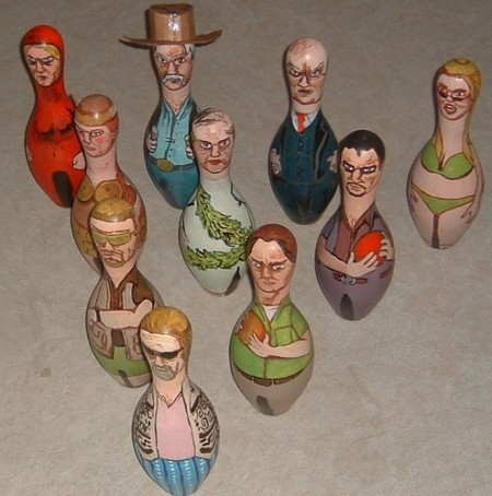 bowling pins lebowski 450x454 Bowling Pin Art: Mario Bros., Star Wars, Zelda