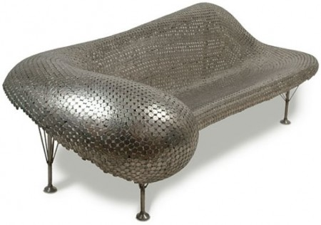 Furniture Made from Coins