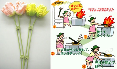 fire flower extinguisher Melting Flower Fire Extinguisher for Kitchen Grease Fires