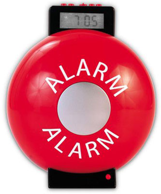 Fire Bell Alarm Clock will Definitely Get You Up