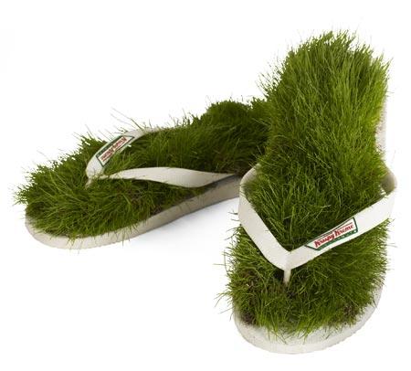 Grass Topped Flip Flops from Krispy Kreme