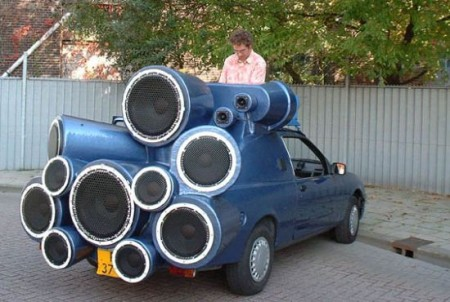 Mobile DJ Car Seems a Bit Excessive
