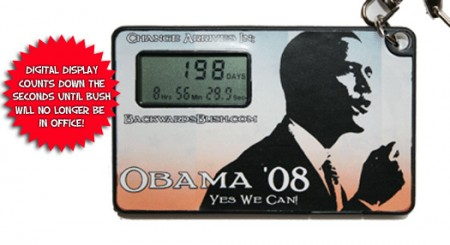 Obama Countdown Timer Keychain