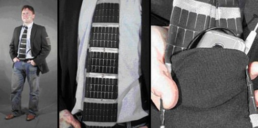Solar Powered Necktie Charges Your Phone