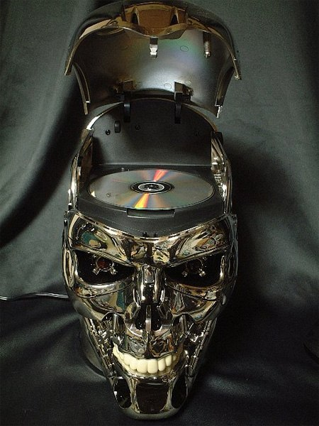 Terminator Skull Dvd Player Is Scary As Hell