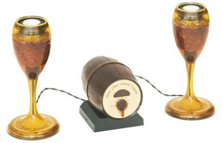 Wine Glass Speakers- Classier than a Box of Wine