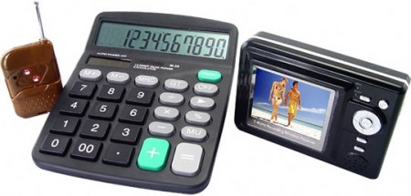 Desktop Calculator is a Wireless Spy Camera