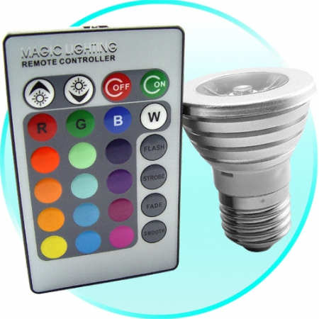 Remote Controlled Color Changing Lightbulb