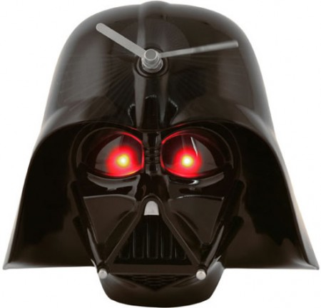Darth Vader Clock Has Glowing Red Eyes