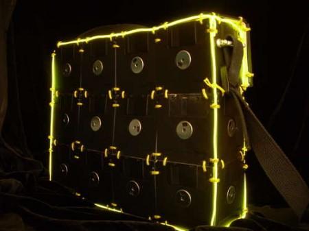 Light Up Floppy Disk Shoulder Bag
