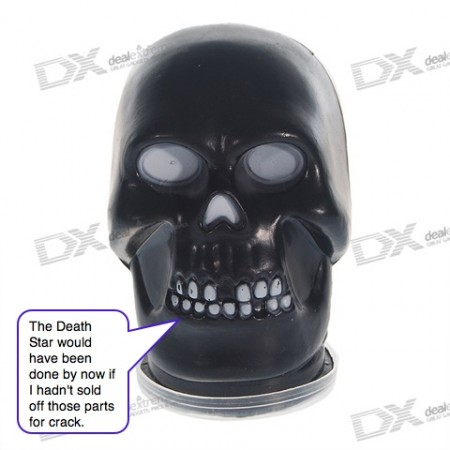 Oozing Gel Skull is Like a Cracked Out Darth Vader